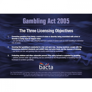 Bacta Three Licensing Objectives