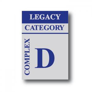 Complex Cat D Legacy Sticker