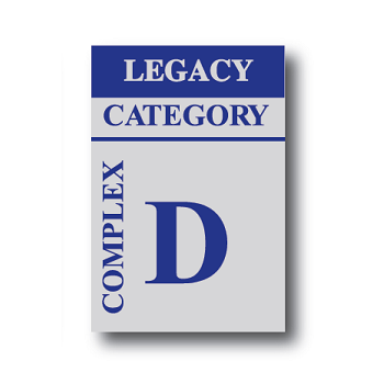 Complex Cat D Legacy Sticker