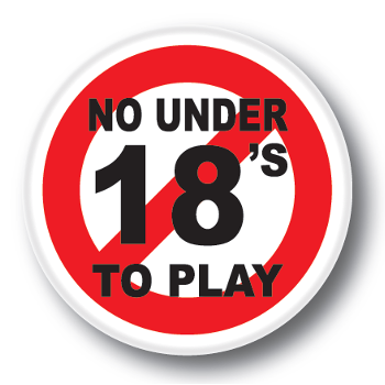 GamCare No Under 18s Sticker