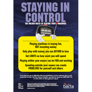 Bacta Stay in Control Poster