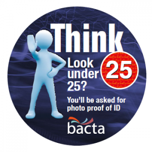 bacta Think 25 badge