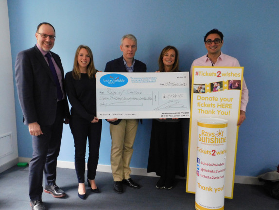 Bacta brings in the sunshine with £11k charitable donation - Bacta