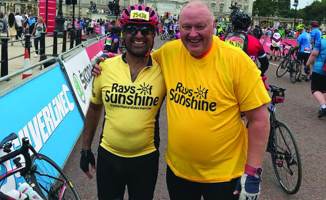 Pedal power wins the day as Bacta cyclists target £10k charity total