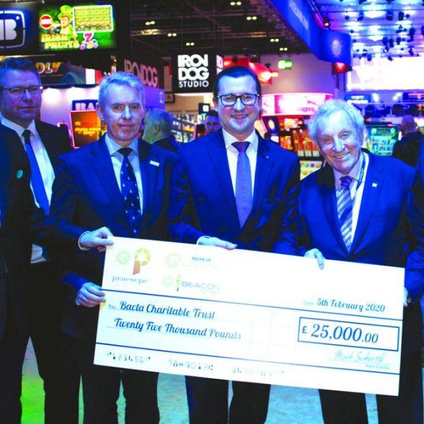 Praesepe Bacta Charitable Trust cheque ICE 2020