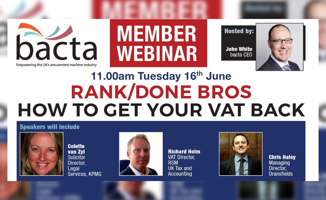 Watch the Bacta webinar: How To Get Your VAT Back