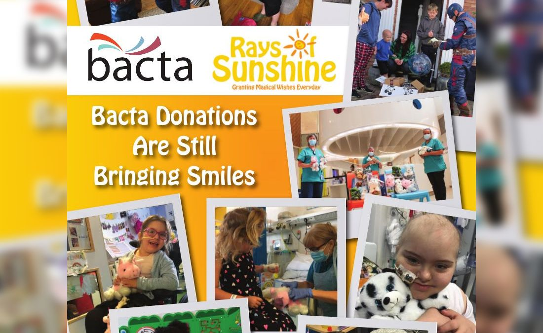 Bacta is still brightening lives says Rays of Sunshine
